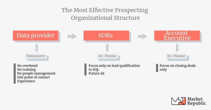 This is the most effective prospecting organizational structure.
