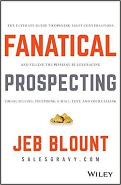 best sales prospecting books - fanatical prospecting book cover