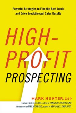 best sales prospecting books - high profit prospecting book cover
