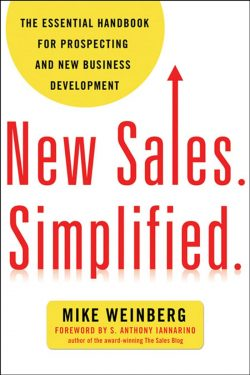 best sales prospecting books - new sales simplified book cover