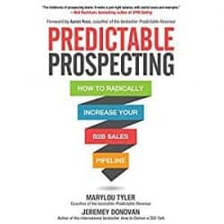 best sales prospecting books - predictable prospecting book cover