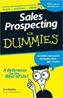 best sales prospecting books - sales prospecting for dummies book cover