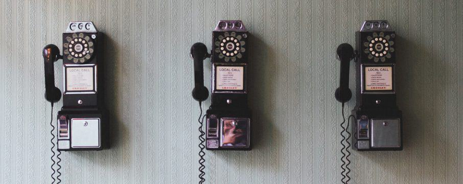 Telephones on the wall